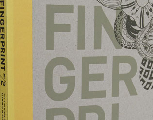 "Detail of ""Fingerprint 2"" by How Books"