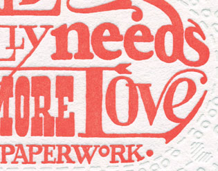 "Detail of ""Love & Paperwork"" Dead Feminist mini-print by Chandler O'Leary and Jessica Spring"