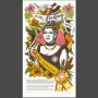 """Song of Aloha"" Dead Feminist broadside by Chandler O'Leary and Jessica Spring"