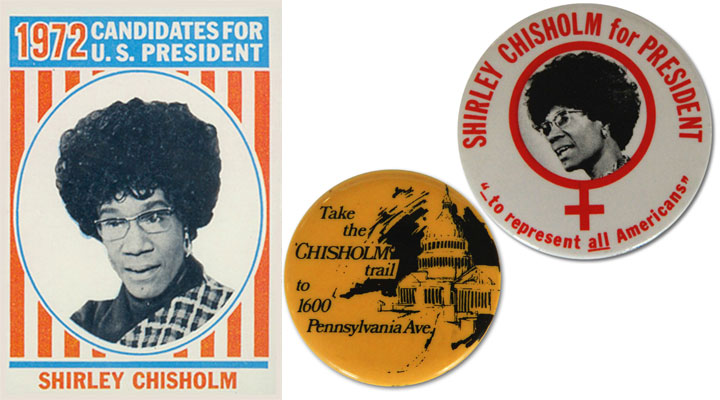 Shirley Chisholm election ephemera