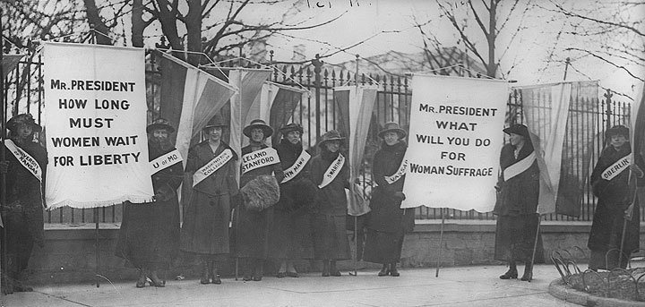 Women's suffrage picket line, c. 1912