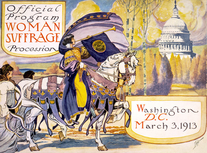 1913 women's suffrage campaign program cover